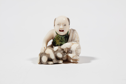 netsuke, 1932.233, 595, 18032, M141, Photographed by Jennifer Carol, digital, 13 Mar 2020, © Auckland Museum CC BY