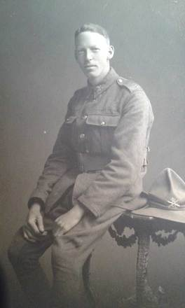 Portrait of George Thorburn Keen. 'Dated on the verso as 28 October, 1917. Presumably taken after his transfer from the 10th Reinforcements of the Canterbury Infantry Regiment to the No.2 Machine Gun Company.'' Image courtesy of H. Charles, SCRoll Project, South Canterbury Museum. Image is subject to copyright restrictions.