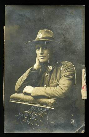 Portrait of George Huntley Hay, The Acme Photo Co., Dunedin, c.1916. Image courtesy of L. Johnston, SCRoll Project, South Canterbury Museum. Image has no known copyright restrictions.