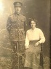 Portrait of Henry Aitken and his bride Dorothy Bellenger, 1917. 'Henry and Dorothy were married in January 1917, in the United Kingdom.' Image courtesy of P. Aitken, SCRoll Project, South Canterbury Museum. Image is subject to copyright restrictions.