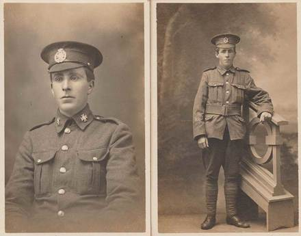 Portraits of William Henry Gason. Image courtesy of the  Unknown Warriors of the NZEF Facebook page/SCRoll Project, South Canterbury Museum. Image is subject to copyright restrictions.