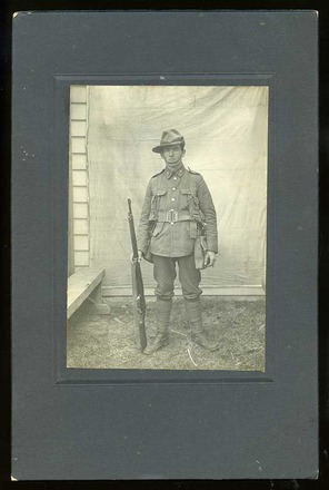 Portrait of Alfred Talke, c.1914. Image courtesy of M. Seymour, SCRoll Project, South Canterbury Museum, L2015/026.01. Image is subject to copyright restrictions.