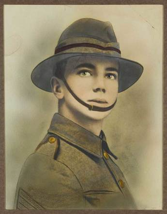 Portrait of William Bernard Bowles, c.1915. SCRoll Project, South Canterbury Museum, 2010/017.01. Image is subject to copyright restrictions.