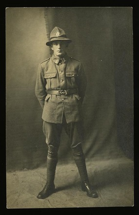 Portrait of Leonard Stanley Ward, c.1916. SCRoll Project, South Canterbury Museum. Image is subject to copyright restrictions.