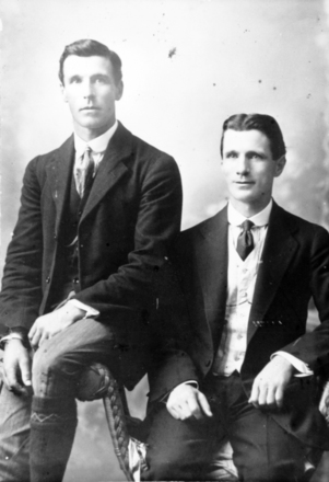 Portrait of John Robert (Jack) Dunn and his brother Matthew Dunn Jr, date unknown. Image courtesy of Wairarapa100. Image may be subject to copyright restrictions.