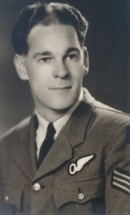 Portrait of Flight Sergeant Noel Breward, c.Second World War. Image kindly provided by Alun Breward (April 2020). Image may be subject to copyright restrictions.