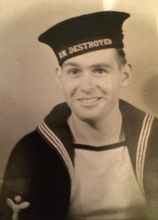 Portrait of James Edward Barnes, New Zealand Division, Royal Navy, c.Second World War. Image kindly provided by Paul Barnes (April 2020). Image is subject to copyright restrictions.