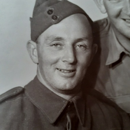 Photograph of Kenneth Drury before embarking for Egypt, c.Second World War. Image kindly provided by Peter Drury and Monique Cotter (May 2020). Image may be subject to copyright restrictions.