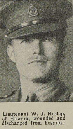 Lieutenant W. J. Heslop, of Hawera, wounded and discharged from hospital. Image kindly provided by Auckland Libraries Heritage Collections AWNS-19410604-28-14. Image has no known copyright restrictions.