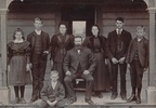 Photograph of the Atwill (Atwell) family of Waimate, c.1902/03, including sons Mark 16601, Joseph (Joe) 47300 and Thomas (Tom) 14049. Image kindly provided by a member of the public. Image may be subject to copyright restrictions.