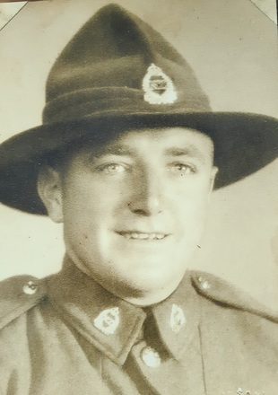 Portrait of Gustave George (Gus) Suhr. Image courtesy of Allan Dodson, Porirua War Stories. Image may be subject to copyright restrictions.