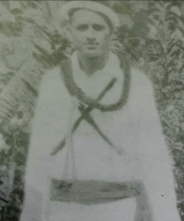 Photograph of Tuainekore Enoka, Cook Island Defence Force. Image kindly provided by great grandson Willie Cuthers (July 2020).