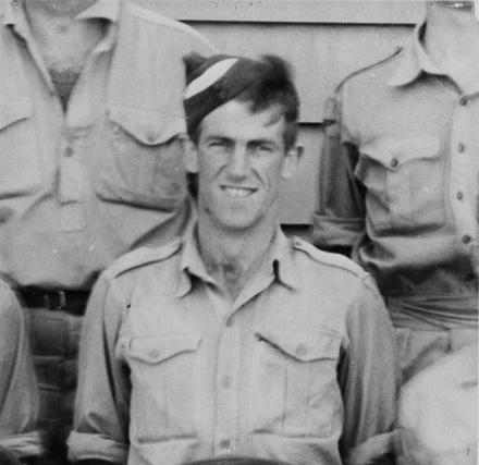 Photograph of Edmund Hillary 'at Delta Camp near Blenheim, between 1939-1945.' Photographer unknown. Alexander Turnbull Library, Wellington, 1/2-106359-F.