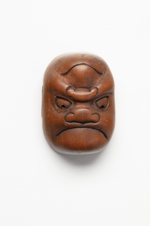 netsuke, mask, 1967.29, M456, Z74, 456, © Auckland Museum CC BY
