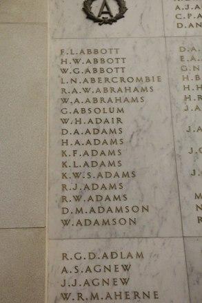 Auckland War Memorial Museum, World War II Hall of Memories Panel  A_001. Image taken June 2020.