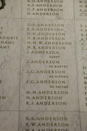 Auckland War Memorial Museum, World War II Hall of Memories Panel  A_006. Image taken June 2020.