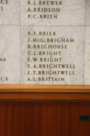 Auckland War Memorial Museum, World War II Hall of Memories Panel  B_021. Image taken June 2020.