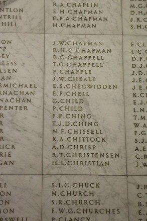 Auckland War Memorial Museum, World War II Hall of Memories Panel  C_011. Image taken June 2020.