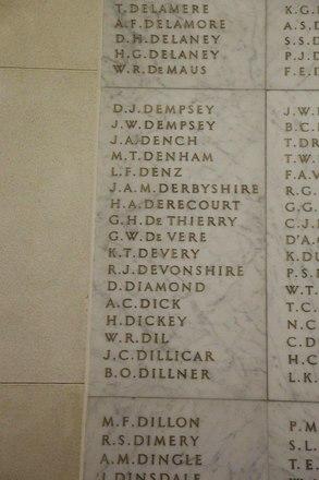 Auckland War Memorial Museum, World War II Hall of Memories Panel  D_006. Image taken June 2020.