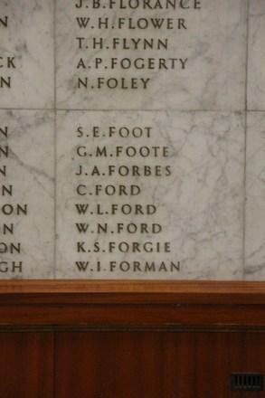 Auckland War Memorial Museum, World War II Hall of Memories Panel  F_008. Image taken June 2020.