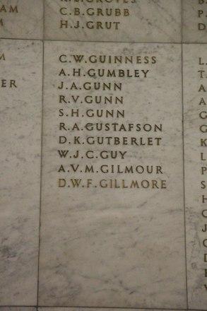 Auckland War Memorial Museum, World War II Hall of Memories Panel  G_016. Image taken June 2020.