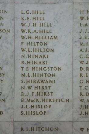 Auckland War Memorial Museum, World War II Hall of Memories Panel  H_022. Image taken June 2020.
