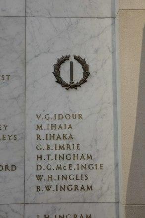 Auckland War Memorial Museum, World War II Hall of Memories Panel  I_001. Image taken June 2020.