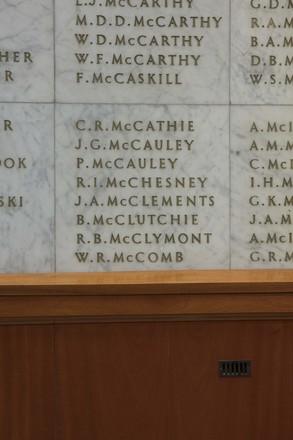 Auckland War Memorial Museum, World War II Hall of Memories Panel  M_003. Image taken June 2020.