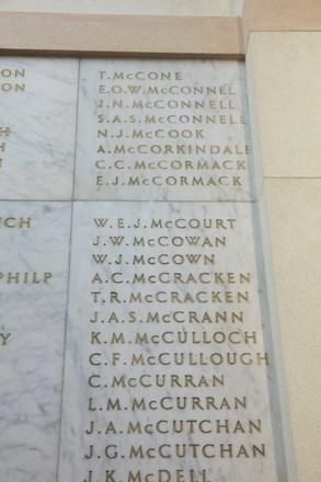 Auckland War Memorial Museum, World War II Hall of Memories Panel  M_004. Image taken June 2020.
