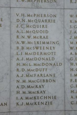 Auckland War Memorial Museum, World War II Hall of Memories Panel  M_016. Image taken June 2020.