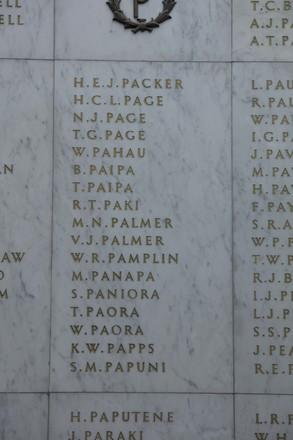 Auckland War Memorial Museum, World War II Hall of Memories Panel  P_001. Image taken June 2020.