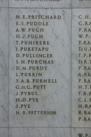Auckland War Memorial Museum, World War II Hall of Memories Panel  P_018. Image taken June 2020.