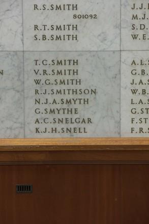 Auckland War Memorial Museum, World War II Hall of Memories Panel  S_017. Image taken June 2020.