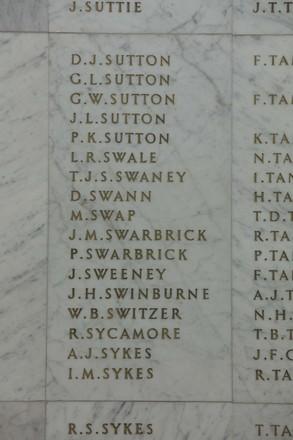 Auckland War Memorial Museum, World War II Hall of Memories Panel  S_029. Image taken June 2020.