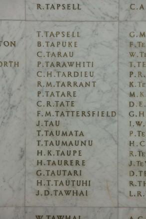 Auckland War Memorial Museum, World War II Hall of Memories Panel  T_003. Image taken June 2020.