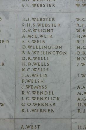 Auckland War Memorial Museum, World War II Hall of Memories Panel  W_011. Image taken June 2020.
