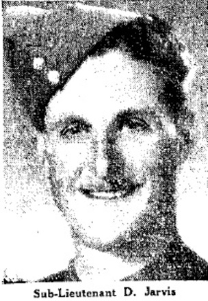 Portrait of Sub Lieutenant Desmond Jarvis, c.Second World War. Image kindly provided by Aaron Jarvis (August 2020).
