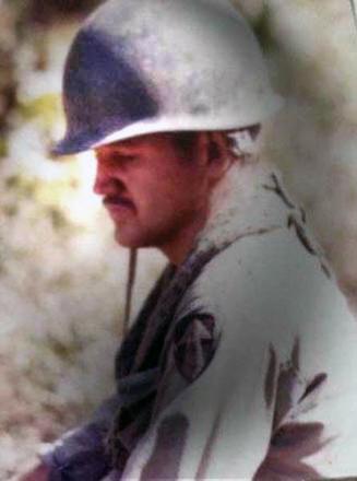 Mike Lenihan awaiting deployment to FSB Raglan. Image kindly provided by Joe Riwai, vietnamwar.govt.nz.