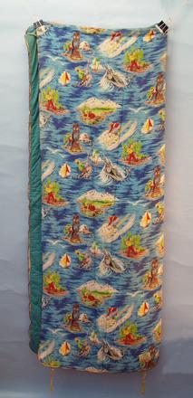 Beachcomber model child's sleeping bag, c1970s [2007.17.5] front view