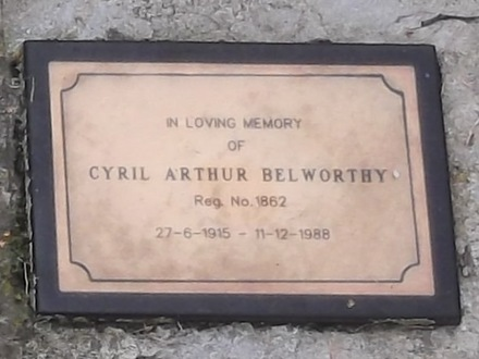 Headstone of Gnr Cyril Arthur BELWORTHY 1862. St Johns, Waikouaiti Cemetery, Block ASH, Plot 4. Image kindly provided by Allan Steel CC-BY 4.0.