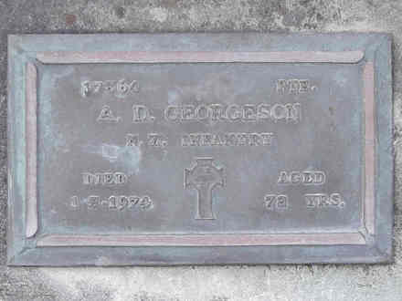 Headstone of Pte Allan Douglas GEORGESON 17364. Andersons Bay RSA Cemetery, Dunedin City Council, Block 13A, Plot 22. Image kindly provided by Allan Steel CC-BY 4.0.