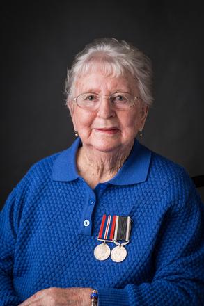 Portrait of Dorothy Mae Blumhardt,  (2014). © NZIPP Photograph by Tracy Stamatakos 9999-5064. CC-BY-NC-ND 4.0.