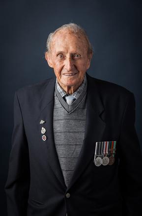 Portrait of Donald Trevor Hine, 659293 (2014). © NZIPP Photograph by Chris Hill 9999-5091. CC-BY-NC-ND 4.0.