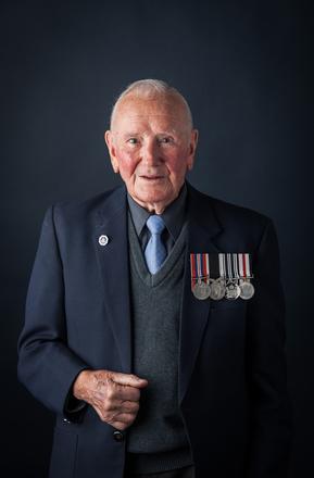 Portrait of George Cyril Sherwood, 630909 (2014). © NZIPP Photograph by Chris Hill 1251-5091. CC-BY-NC-ND 4.0.