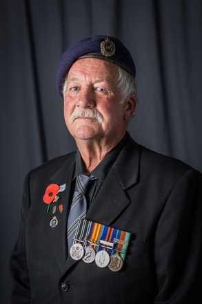 Portrait of Dave Chisholm, 375020 (2014). © NZIPP Photograph by Justin Aitken 1128-7328. CC-BY-NC-ND 4.0.