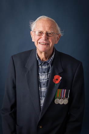 Portrait of Roy T Bell, 43243 (2014). © NZIPP Photograph by  Chris Hill 9999-5091. CC-BY-NC-ND 4.0.
