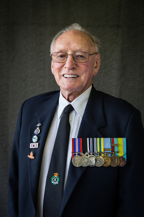 Portrait of Ronald Abey, 452869 (2014). © NZIPP Photograph by Jody Beattie 2917. CC-BY-NC-ND 4.0.