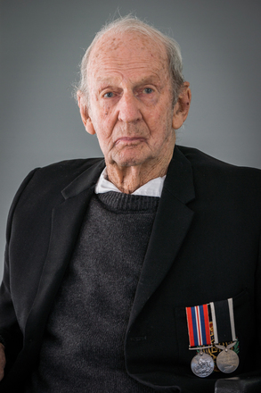 Portrait of Clarence Day, 4462667 (2014). © NZIPP Photograph by Annette Scullion 2867. CC-BY-NC-ND 4.0.