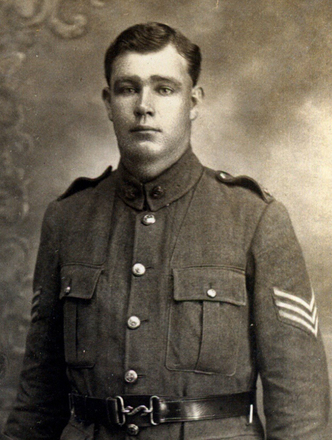 Portrait of Arthur Kennedy Brooking known as Jack in Uniform. Image kindly provided by Grandson Bryan (December 2020).