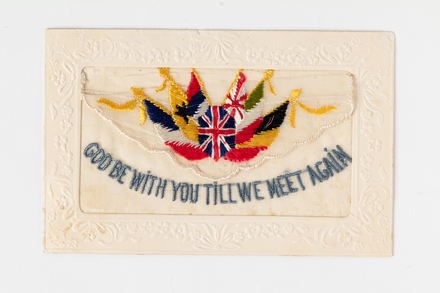 postcard, embroidered, 1995x2.225, © Auckland Museum CC BY